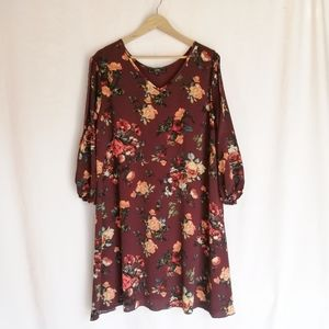 Vibe Floral 3/4 sleeve dress